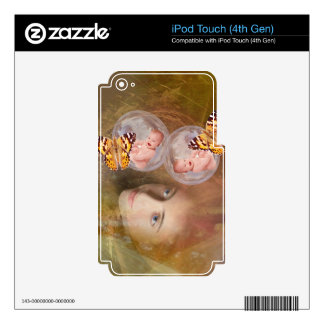 Baby twin boys or girls skin for iPod touch 4G
