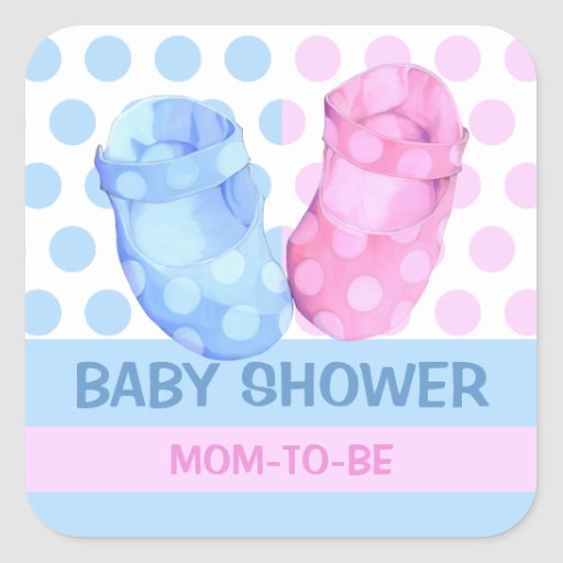 Baby Twins Booties Baby Shower Gift Sticker