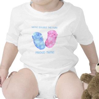 Baby Twins Booties boy Infant Bodysuit