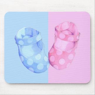 Baby Twins Booties Mousepad