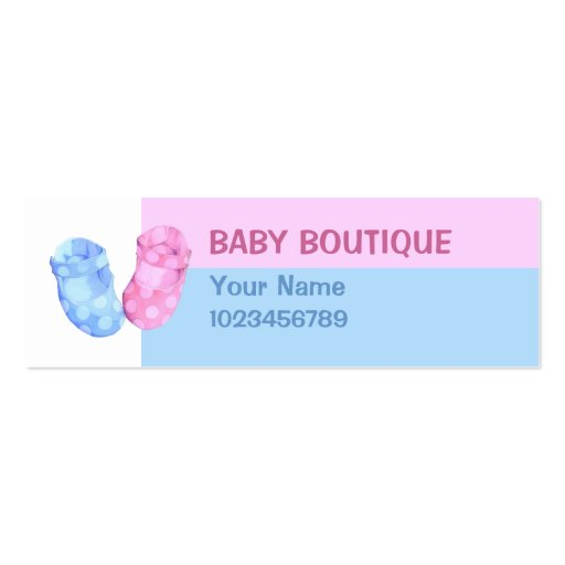 Baby Twins Booties small Business Card