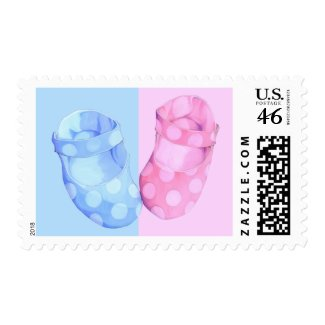 Baby Twins Booties Stamp stamp