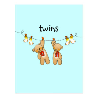 Baby twins (boy) post cards