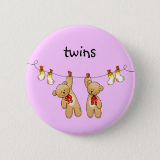 Baby twins (girl) button