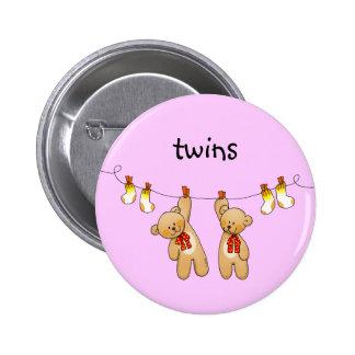 Baby twins (girl) 2 inch round button