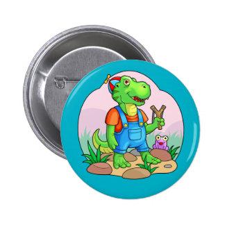 baby tyrannosaurus 2 inch round button