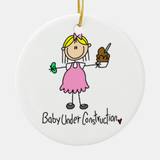 Baby Under Construction T-shirts and Gifts Ceramic Ornament