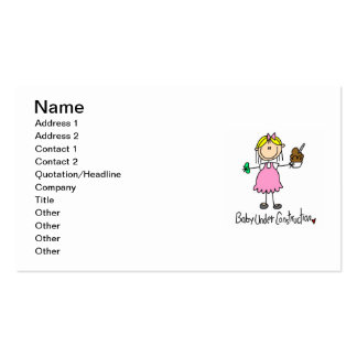 Baby Under Construction T-shirts and Gifts Double-Sided Standard Business Cards (Pack Of 100)