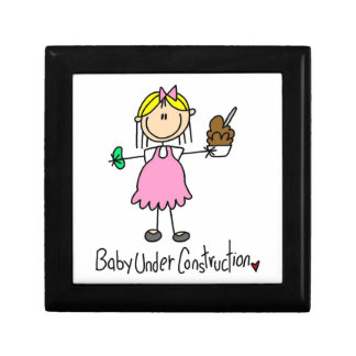 Baby Under Construction T-shirts and Gifts Jewelry Box