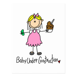 Baby Under Construction Tshirts and Gifts Postcard