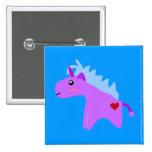Baby Unicorn 2 Inch Square Button