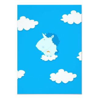 Baby unicorn 4.5x6.25 paper invitation card