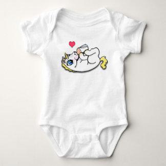 Baby unicorn feeding time - Blonde Baby Bodysuit