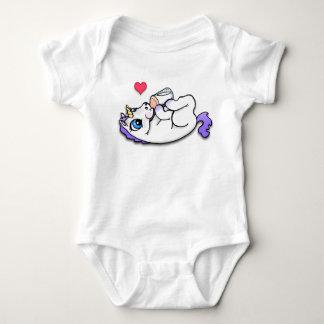 Baby unicorn feeding time - Purple T-shirts