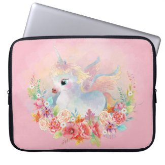 Baby Unicorn Neoprene Laptop Sleeve Fantasy