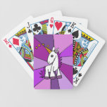 Baby Unicorn with Golden Horn Art Bicycle Poker Cards