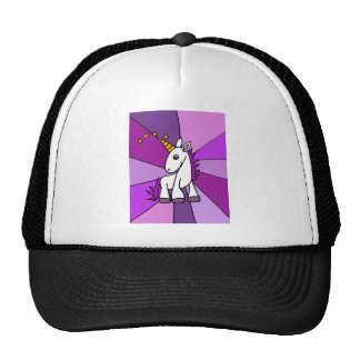 Baby Unicorn with Golden Horn Art Trucker Hat