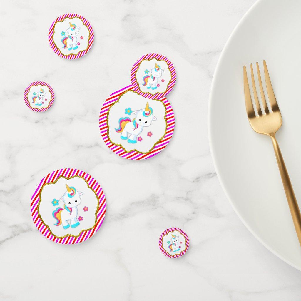 Baby Unicorns, Candy Stripes Confetti