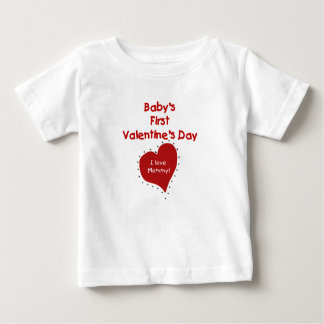 Baby Valentine I Love Mommy Baby T-Shirt