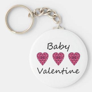 Baby Valentine Basic Round Button Keychain