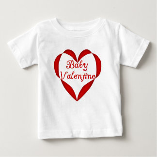 Baby Valentine Red Heart Baby T-Shirt