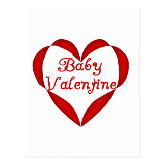 Baby Valentine Red Heart Postcards
