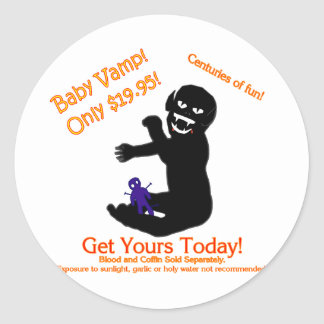 Baby Vamp, Only $19.95! Classic Round Sticker