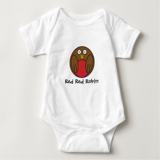 Baby Vest - Red Red Robin Baby Bodysuit