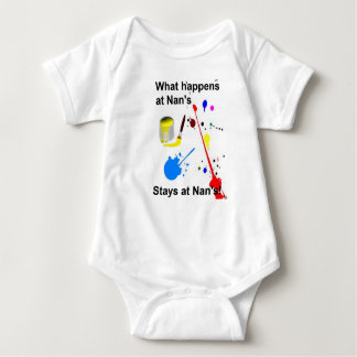 baby vest what happens at nan's stays at nan's baby bodysuit