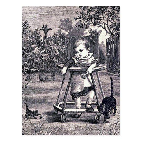 """""""Baby"""" Vintage Book Illustration Postcard"""
