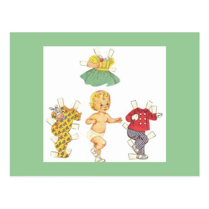Baby Vintage Paper Doll Postcards