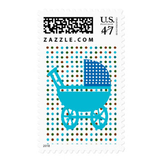 Baby Vintage Polka Dots Antique  Carriage Postage
