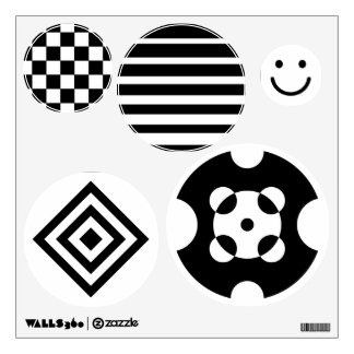 Baby visual stimulation pictures, black and white wall decal