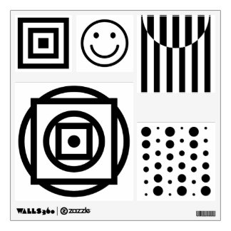 Baby visual stimulation pictures, black and white wall sticker