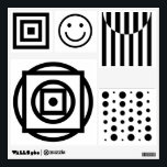 """Baby visual stimulation pictures, black and white wall sticker<br><div class=""""desc"""">Black and white baby visual stimulation pictures and patterns.</div>"""