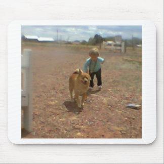 Baby Walking Dog #2 Mouse Pad