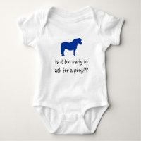Baby Wants Pony Baby Bodysuit