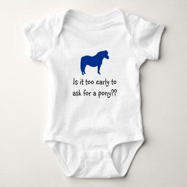 mablekb Baby Wants Pony Baby Bodysuit