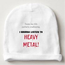 Baby Wants to Listen to HEAVY METAL! Baby Beanie