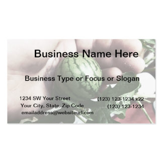 Baby watermelon in hand fruit picture business card templates
