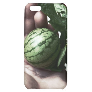 Baby watermelon in hand fruit picture cover for iPhone 5C
