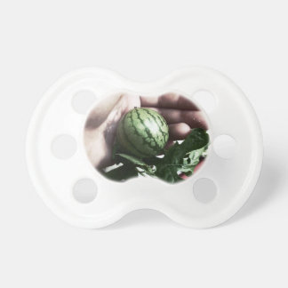 Baby watermelon in hand fruit picture pacifier