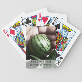 Baby watermelon in hand fruit picture poker deck
