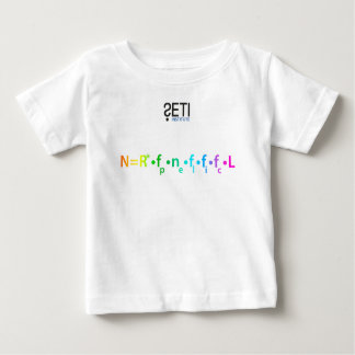 Baby wear with SETI Logo and Drake Equation Baby T-Shirt