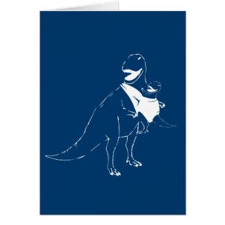 Baby-wearing Dinosaur Card
