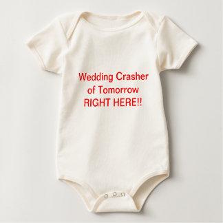 Baby wedding crasher top creeper
