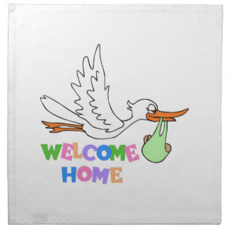 BABY WELCOME HOME PRINTED NAPKIN