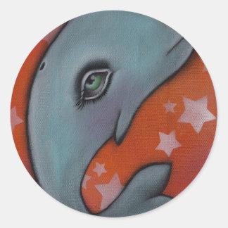 Baby Whale Classic Round Sticker