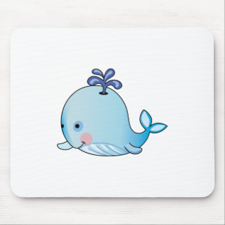 BABY WHALE MOUSE PAD