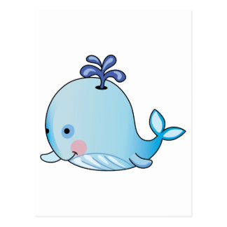 BABY WHALE POSTCARD
